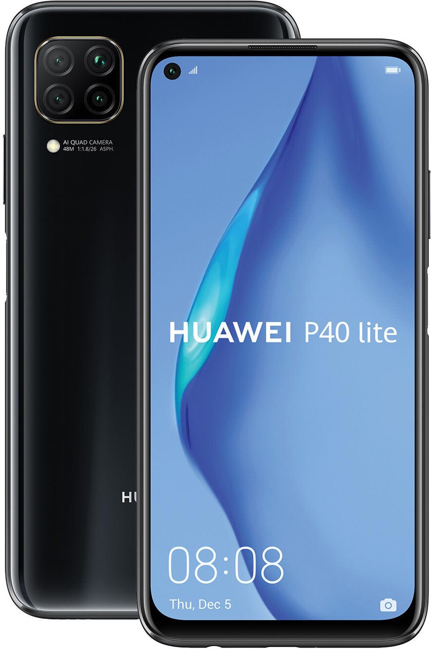 """Smartphone 6.4"""" Huawei P40 Lite (full HD+, Kirin 810, 6 Go de RAM, 128 Go, différents coloris, sans services Google) + coque de protection"""