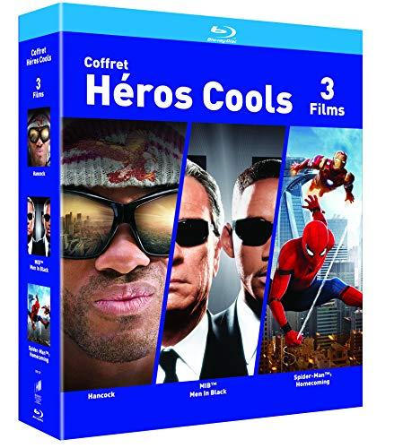 Coffret Blu-Ray Héros Cools - Hancock / Spider-man : Homecoming / Men in Black