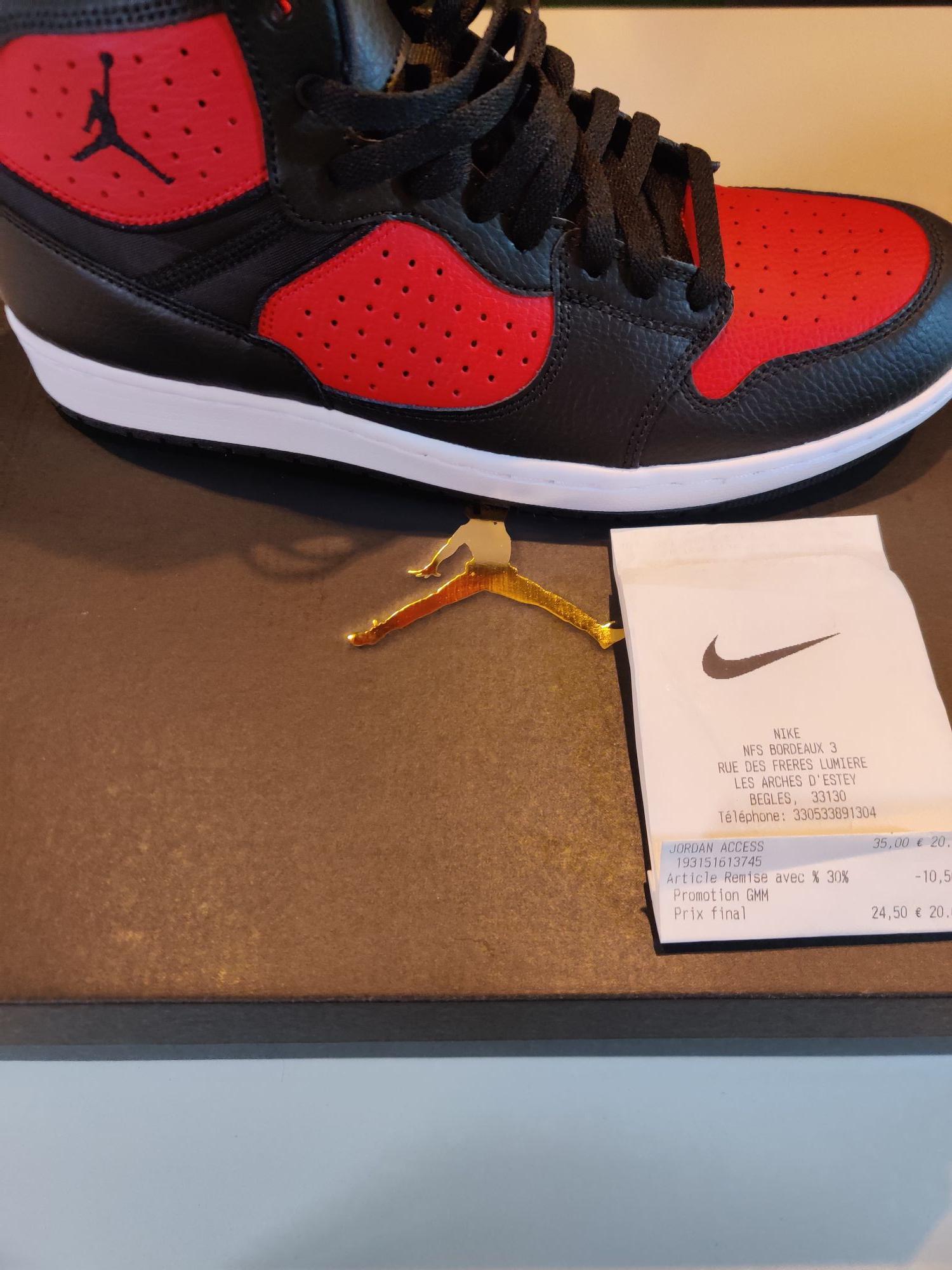 Chaussures Nike Jordan Access - noir / rouge (du 41 au 46) - Bègles (33)