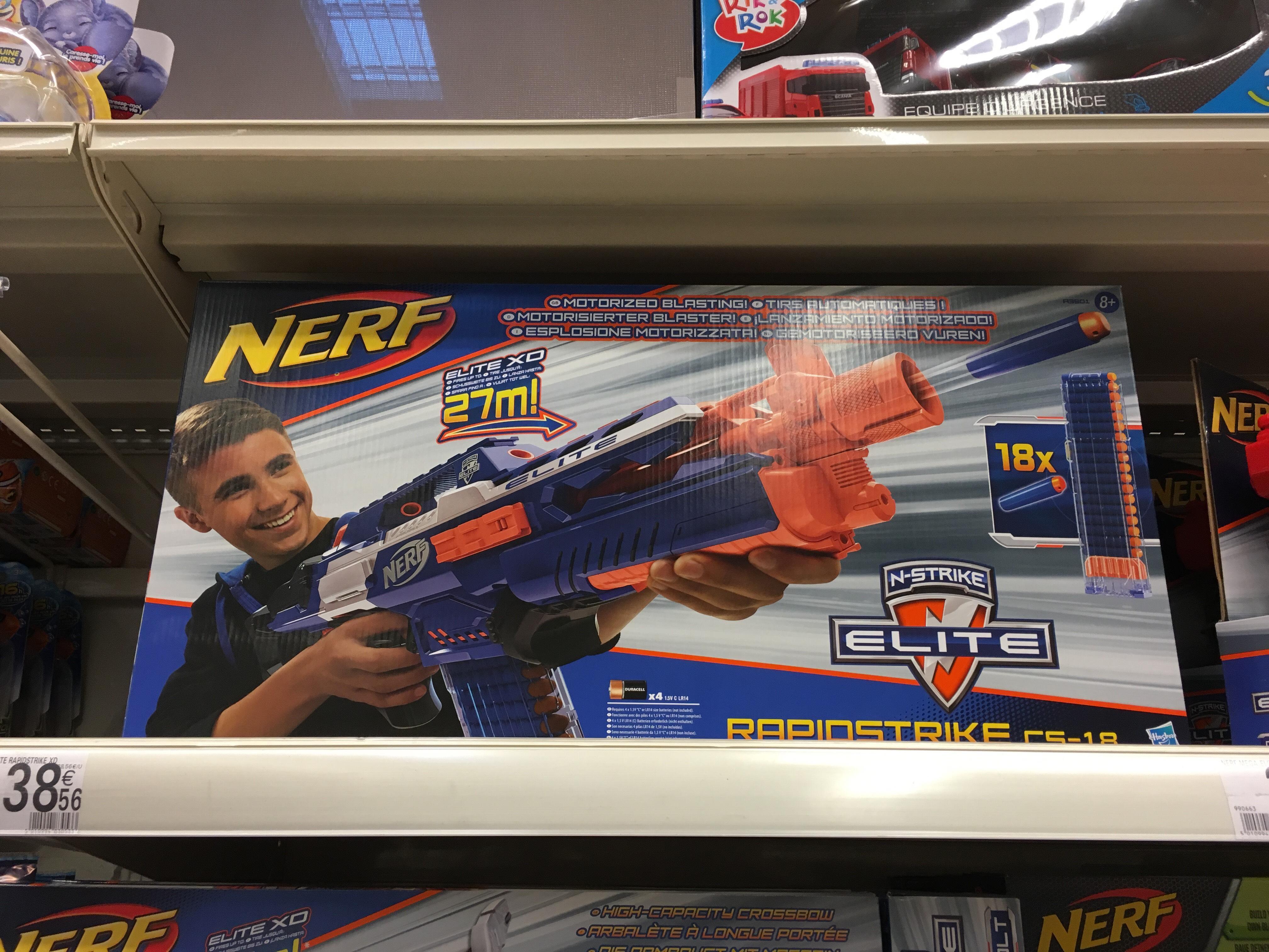 Pistolet Nerf Rapidstrike CS-18 (Avec ODR de 50%)