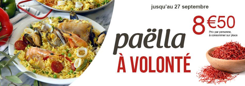 Paella à volonté à consommer sur Place - Crescendo Restauration