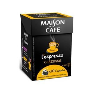 Capsules L'Espresso Maison du café (avec 50% sur la carte fidélité + BDR)