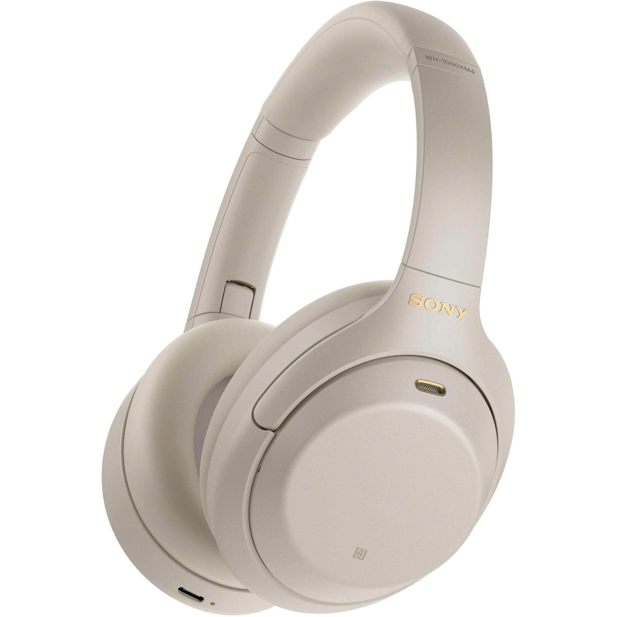 Casque audio à réduction de bruit Sony WH-1000XM4 - Bluetooth, Argent
