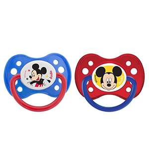 2 Sucettes Anatomique Dodie Duo Mickey A63 6+ Mois - Bleu/Rouge