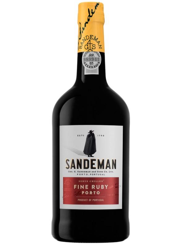 Bouteille de Porto Sandeman Fine Ruby 19.5° - 75 cl