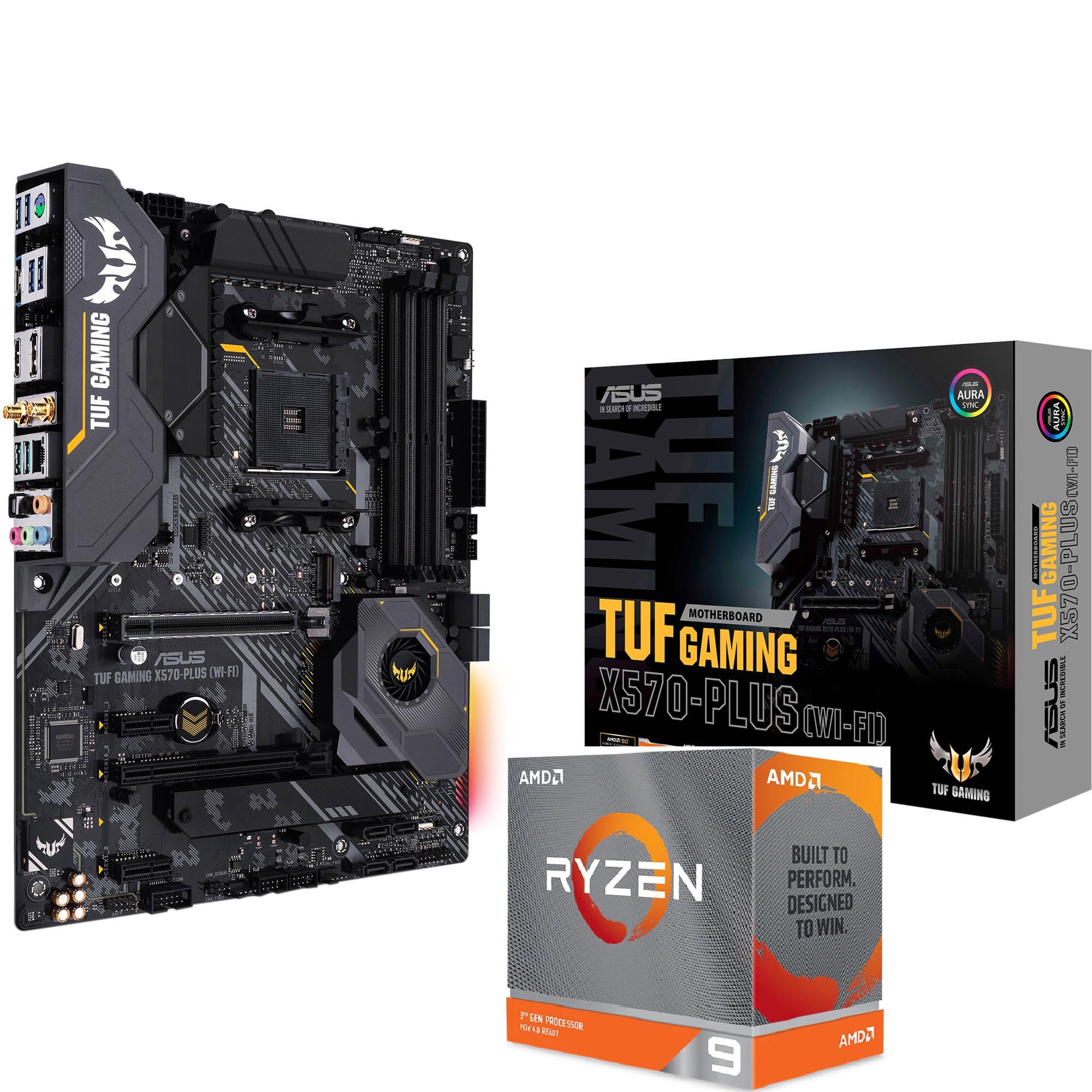 Kit Processeur AMD Ryzen 9 3950X + Carte mère Asus TUF Gaming X570-Plus WIFI (Livraison incluse)