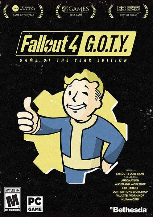 Fallout 4 GOTY: Jeu de base et ses DLCs sur PC (Dématérialisé - Steam)