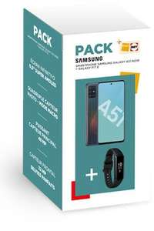 """Smartphone 6.5"""" Samsung A51 + Bracelet d'activité Galaxy Fit E"""