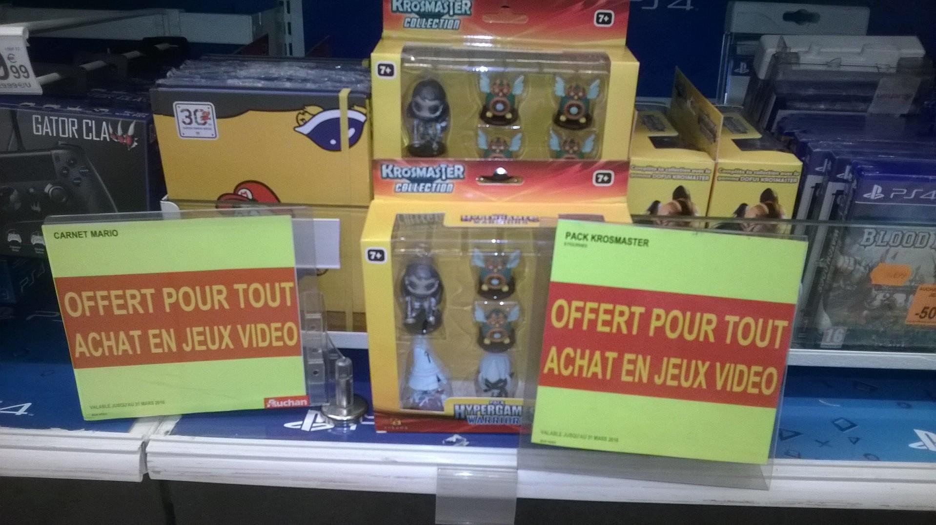 Figurines Krosmasters Hypergames Warriors ou Carnet Super Mario Maker offert pour l'achat d'un jeu