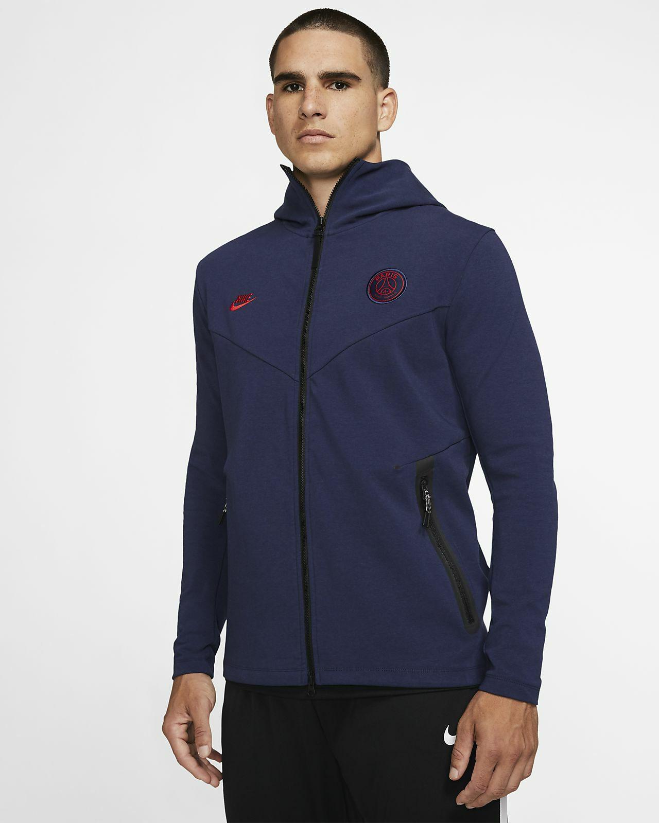 Sweat à capuche à zip Homme Nike Paris Saint-Germain Tech Pack (Tailles L & XL)