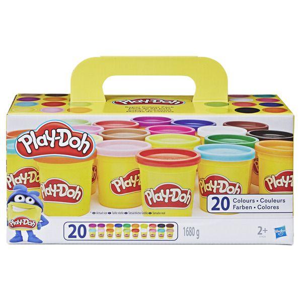 Lot de 20 pots de pâte à modeler Play-Doh - 20 x 84g (via 7.45€ sur la carte de fidélité)