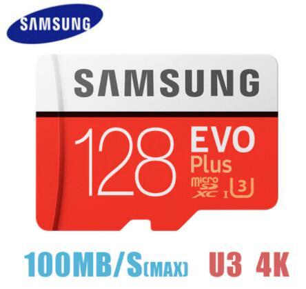 Carte mémoire microSDXC Samsung Evo Plus - 128 Go, U3