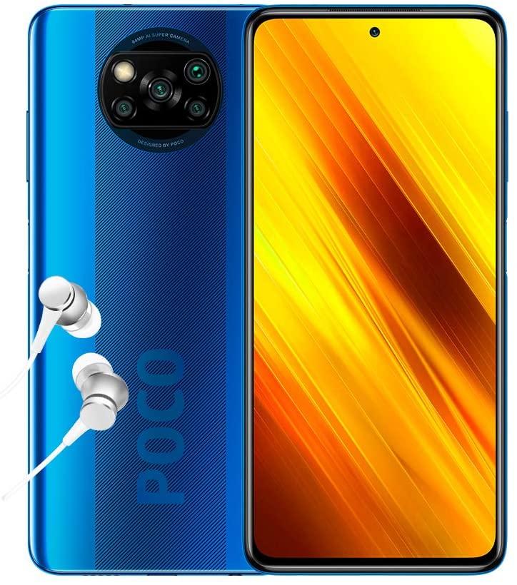 "Smartphone 6.67"" Xiaomi Poco X3 - Full HD+ 120Hz, Snapdragon 732G, RAM 6 Go, 64 Go, Bleu"