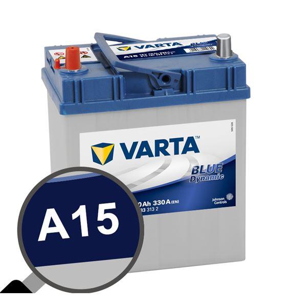 25% de réduction sur une sélection de batteries Varta - Ex: Batterie voiture Varta A15 - 40Ah / 330A, 12V