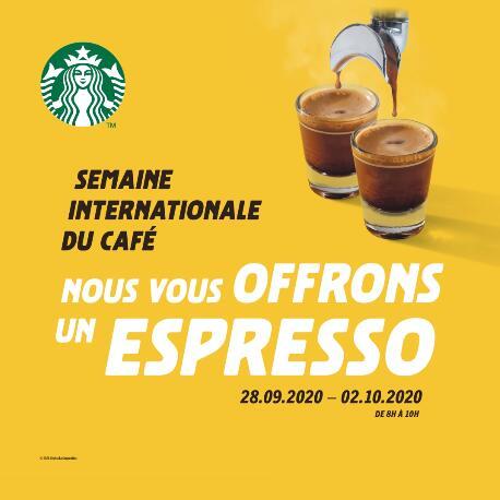 [De 8h à 10h] Espresso offert dans les salons participants