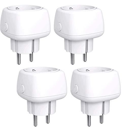 Lot de 4 prises connectées WiFi Meross (10A) - Compatible Alexa, Google Home et SmartThings (Vendeur tiers)