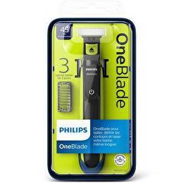 Rasoir électrique Philips OneBlade avec 3 sabots clipsables + 1 figurine offerte