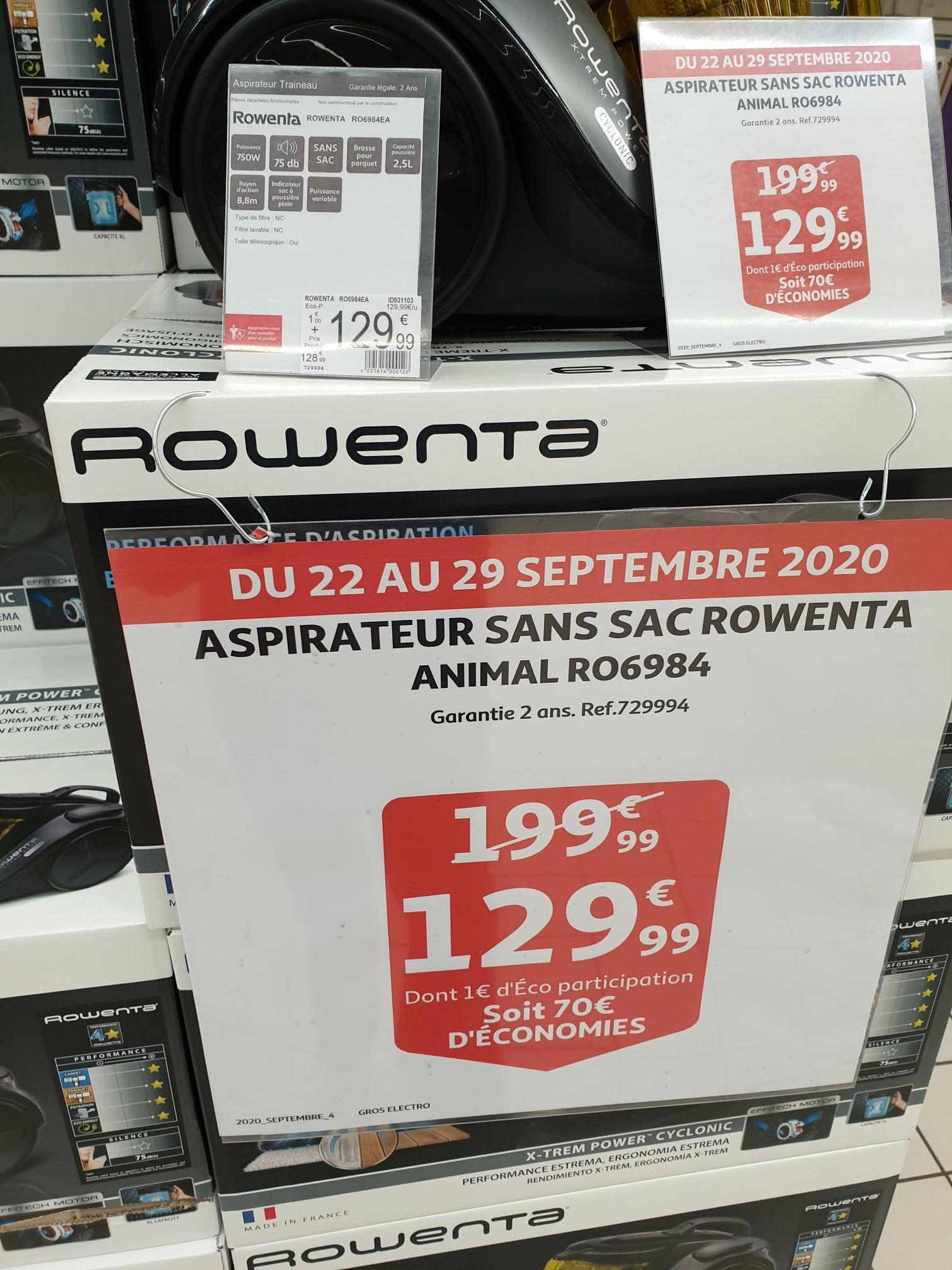 Aspirateur sans sac Rowenta Power Cyclonic Animal Care 4A RO6984 (2.5L) - Trignac (44)