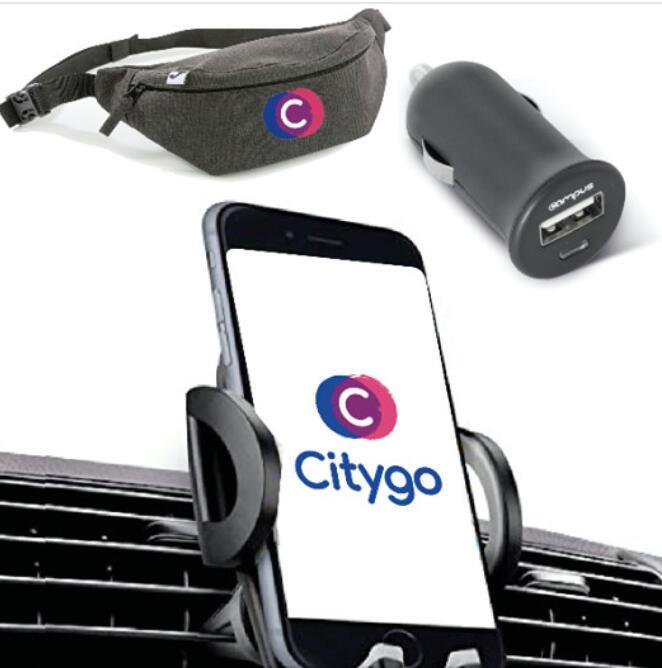 [Utilisateurs CityGo] Kit conducteur gratuit (support téléphone + prise allume cigare + sac banane + porte clé)