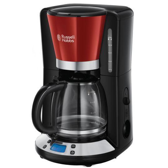 Cafetière programmable Russell Hopps 24031-56 - Rouge/Noir