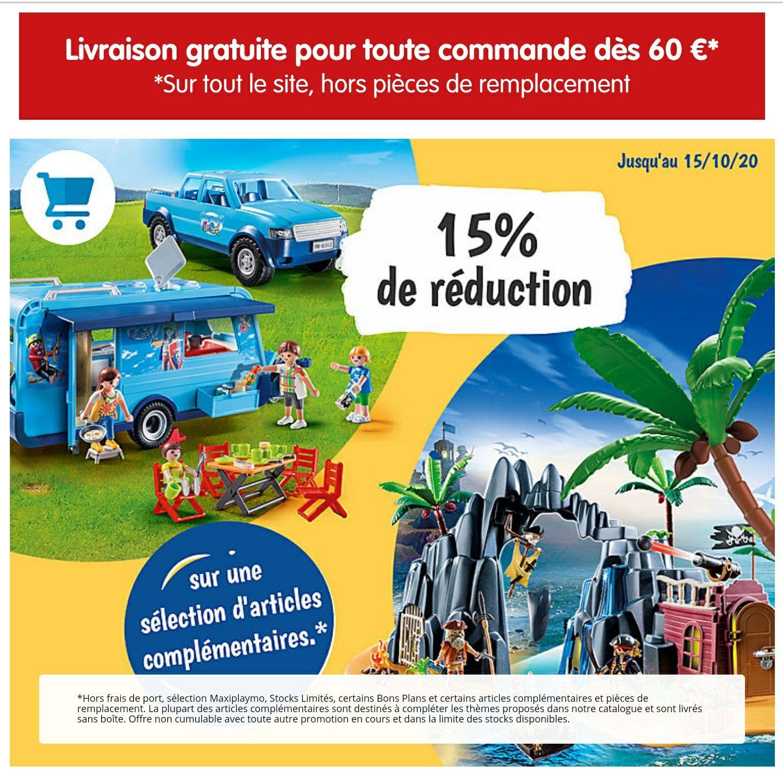 15% de réduction sur les articles complémentaires exclusifs Playmobil (playmobil.fr)
