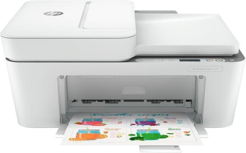 Imprimante multifonction à jet d'encre HP DeskJet 4120 - télécopie, Bluetooth 4.2 / Wi-Fi, avec 3 mois & 10€ Instant Ink (via ODR de 20€)
