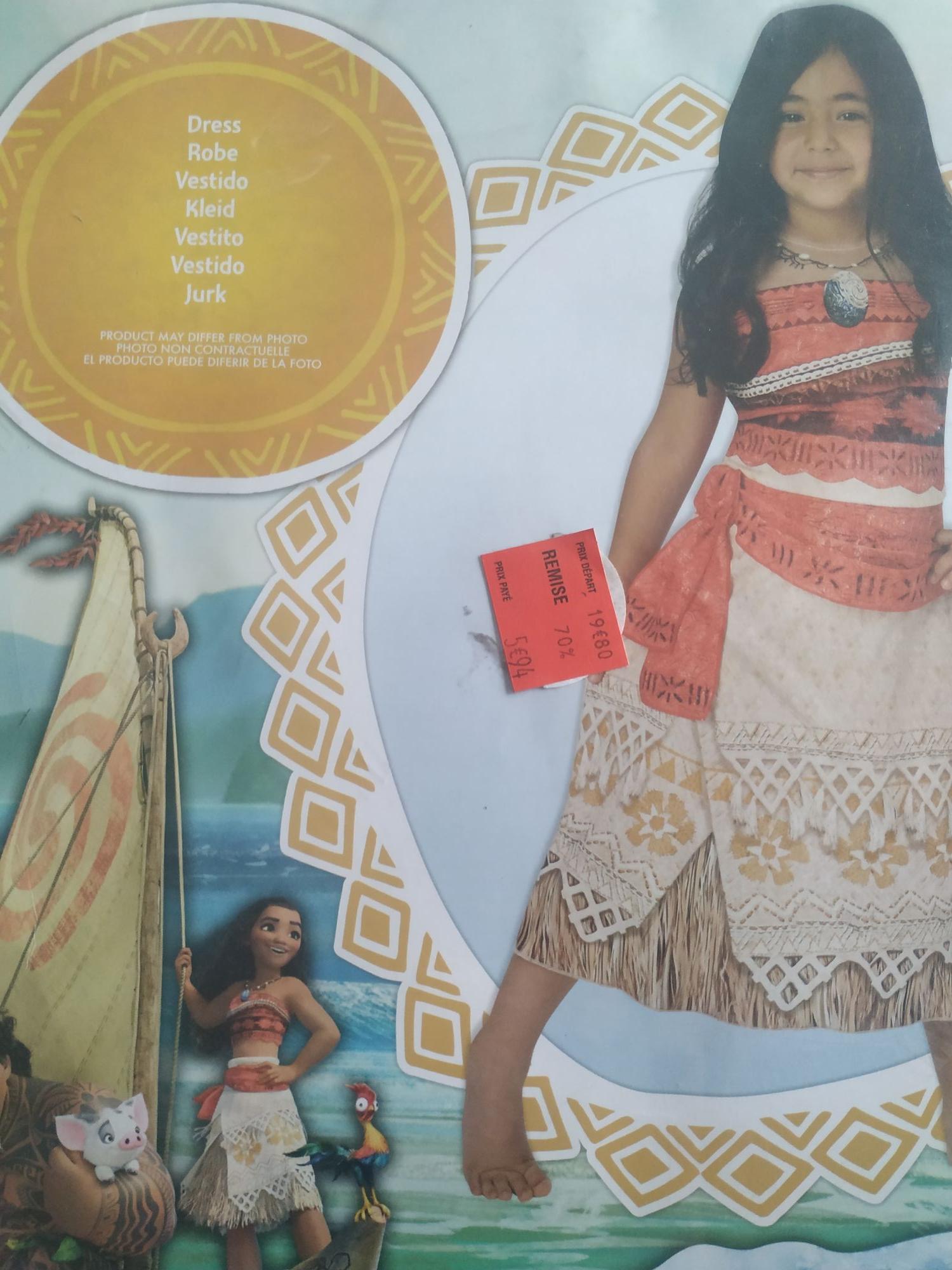 Déguisement Vaiana (5-6 Ans) - Saran (45)