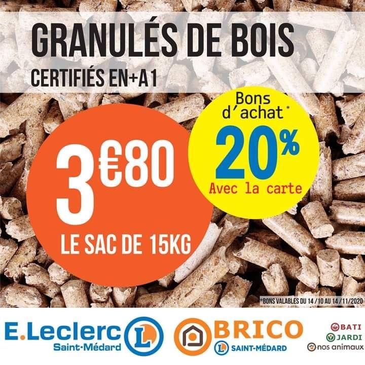 Granulés de bois - 15kg (Via 0.76€ en bon d'achat) - Saint-Médard-en-Jalles (33)