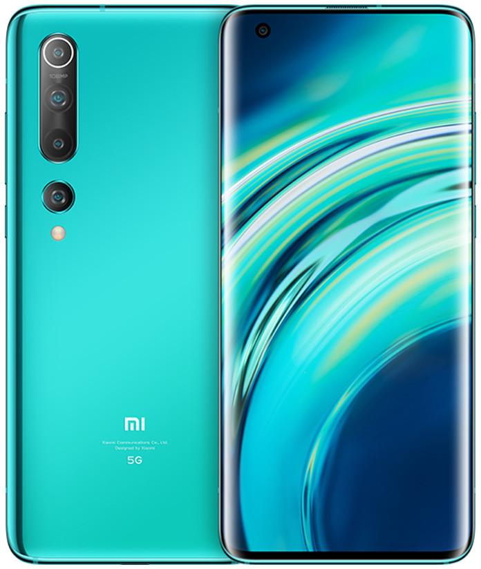 """Smartphone 6.67"""" Xiaomi Mi 10 - full HD+, SnapDragon 865, 8 Go de RAM, 256 Go, 5G, vert (+ 25.69€ en SuperPoints)"""