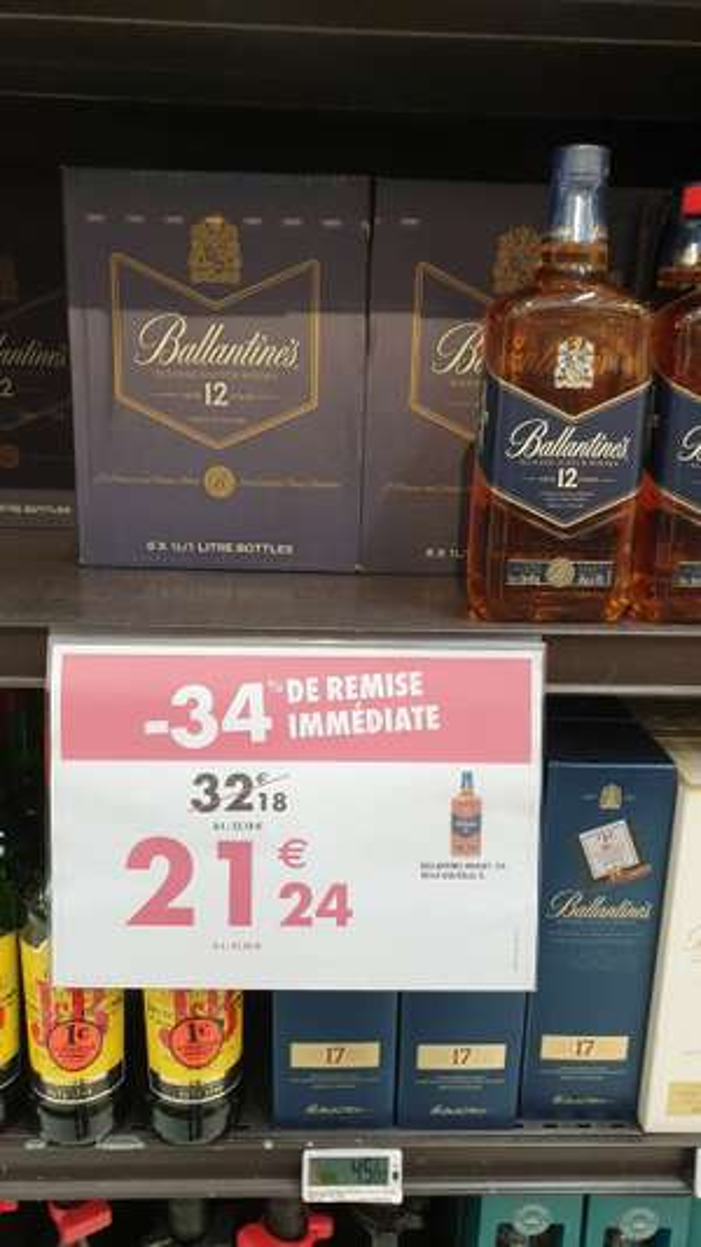 Bouteille Scotch Whisky Ballantine's 12 ans d'âge (1 L) - Claye Souilly (77)