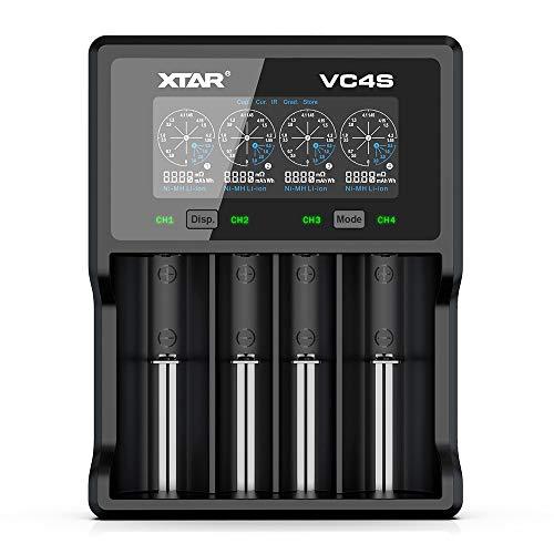 Chargeur pour piles rechargeables Xtar VC4S - 3,6 V/3,7 V Li-Ion