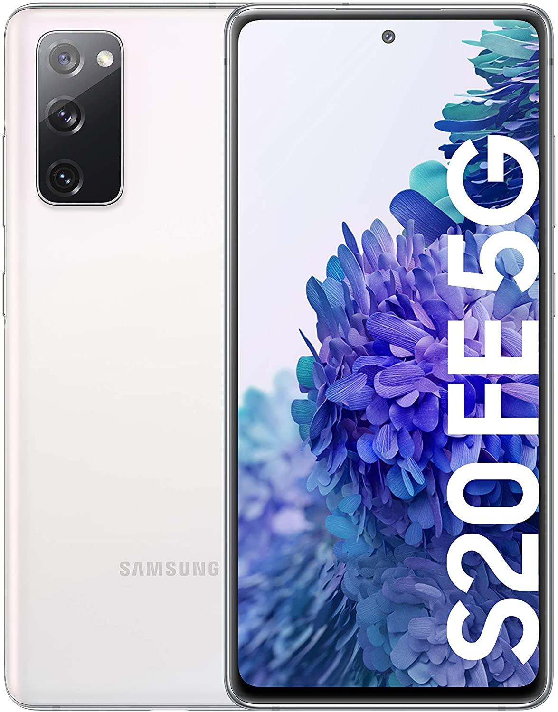 "[Précommande] Smartphone 6,5"" Samsung Galaxy S20 FE (5G) - Snapdragon 865, AMOLED 120 Hz, 6 Go RAM, 128 Go ROM, 4500 mAh, Blanc"