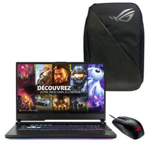 """Sélection de PC Portables en promotion - Ex : PC Portable 17.3"""" Asus Strix G17-G712LW-EV063T + Sac à dos + Souris"""