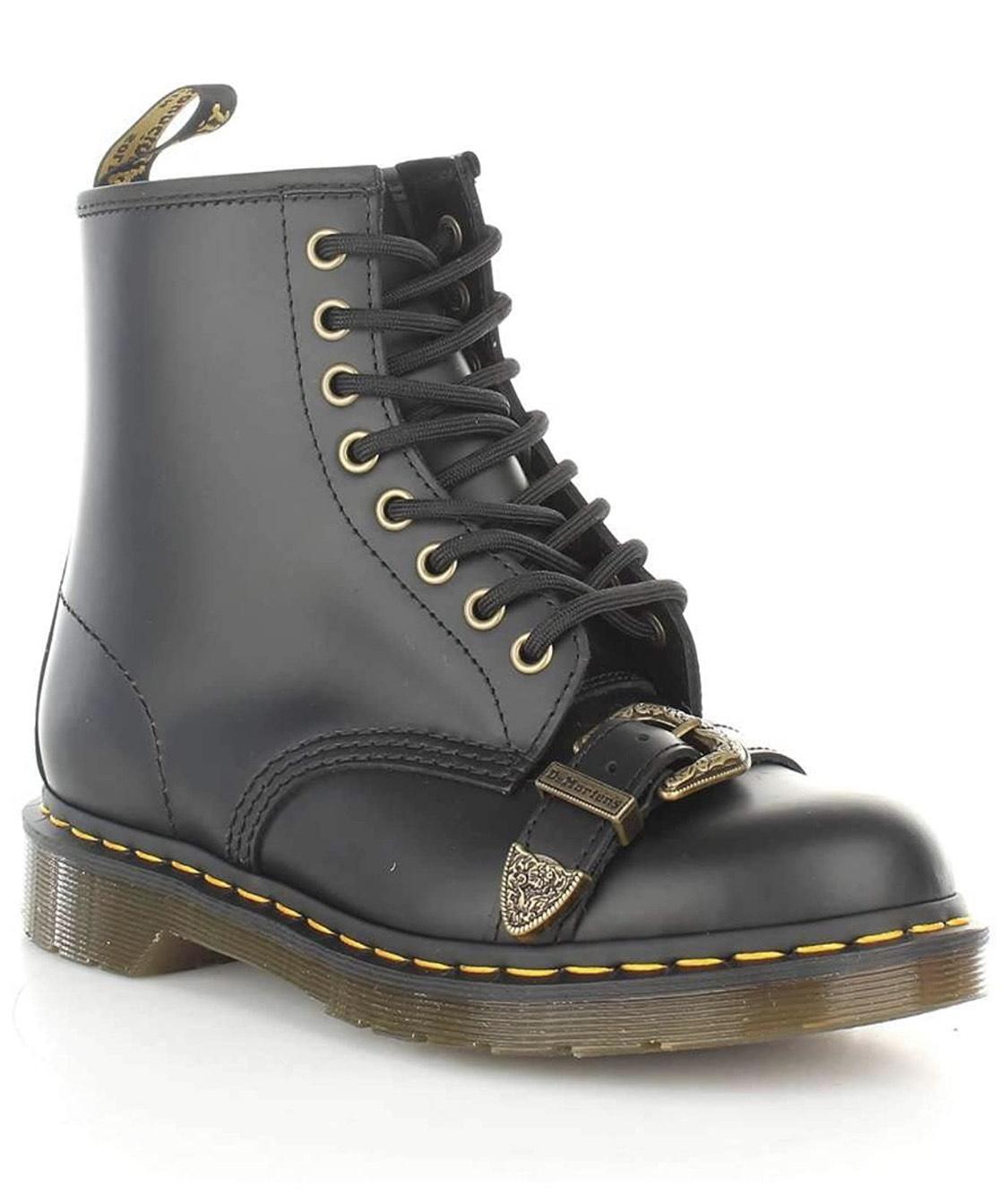 Chaussures Femme Dr Martens 1460 Bucke Neri - Tailles 37 au 41 (Vendeur Tiers)
