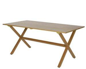 Table de jardin métal imitation bois Garden Furniture Nantal - 170 cm