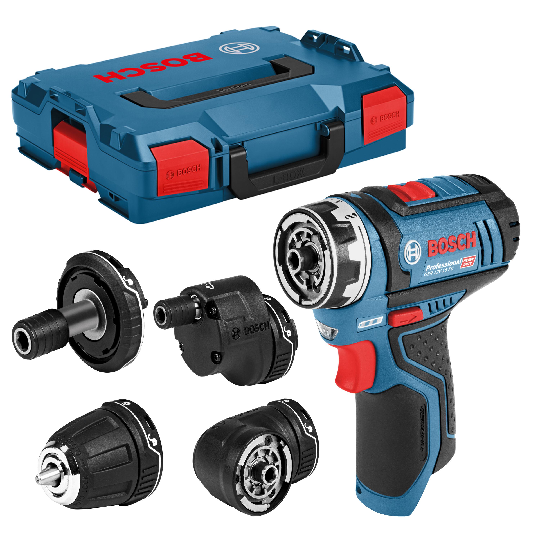 Perceuse-Visseuse Sans-Fil Bosch GSR 12V-15 FC (Machine Nue) + L-BOXX + 4 Accessoires