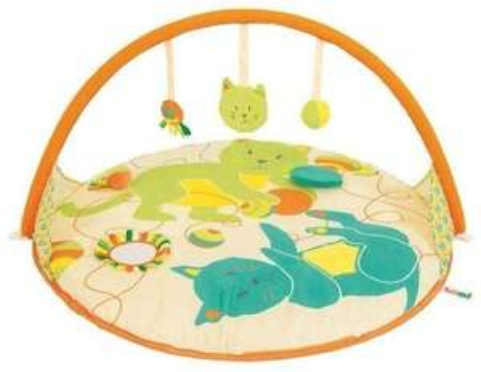 Tapis d'éveil pliable Ludi pour bébé - 6 activités et arche pliable