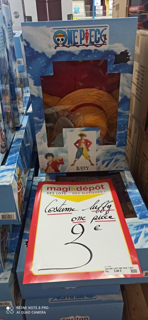 Déguisement pour enfant One Piece Luffy (du 5 au 12 ans) - Magik' Dépôt Calais (62)