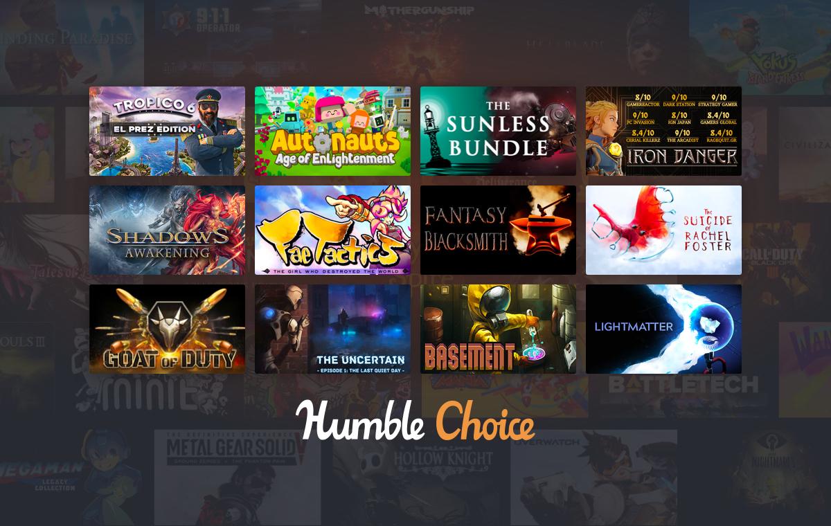 Humble Bundle Choice - Octobre 2020 : Tropico 6 + Fae Tactics + 11 Jeux sur PC (Dématérialisé - Steam)