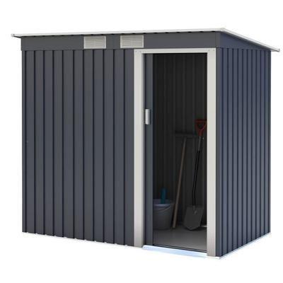 Abri de jardin en métal 2,43m² - 1 porte coulissante, Gris anthracite