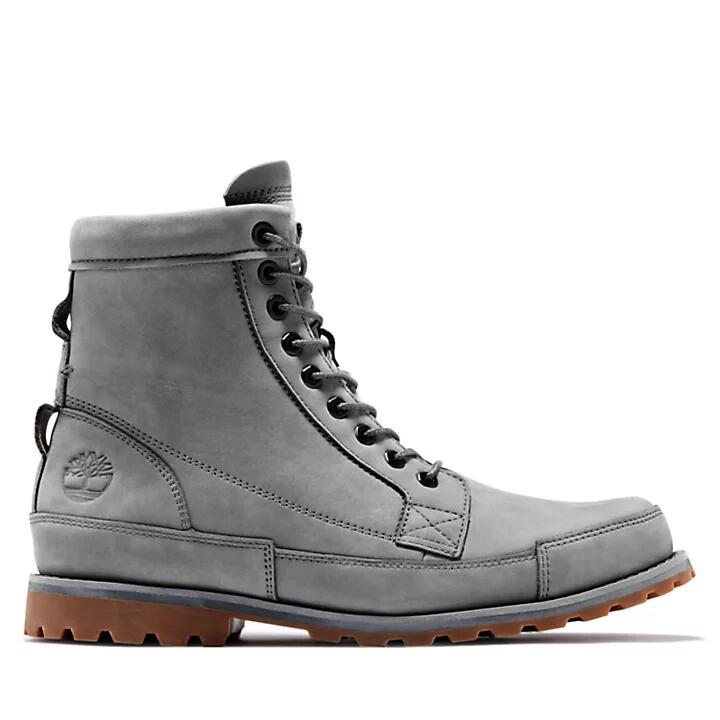 Paire de Boots Timberland 6-Inch Originals pour Homme - Gris, Tailles 40 à 47.5