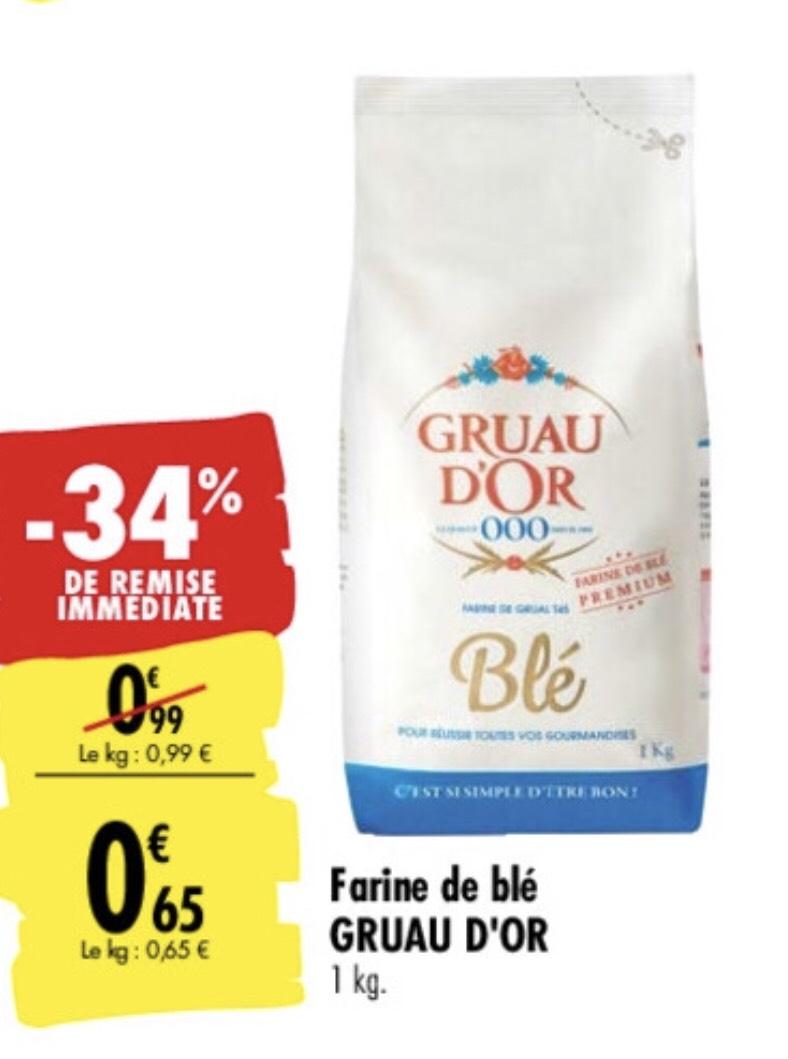 Sac de farine de blé Gruau d'Or - 1 Kg
