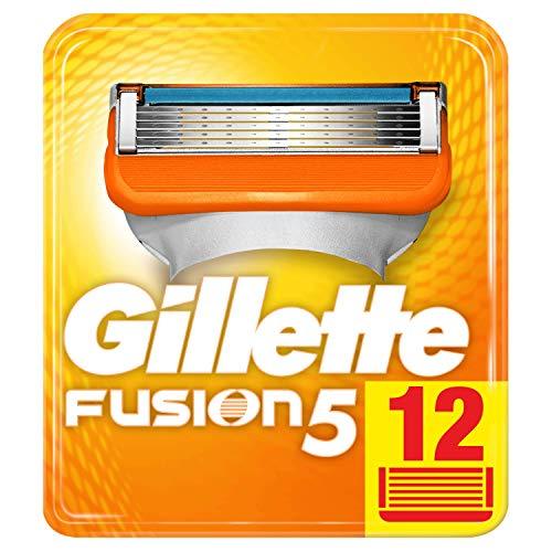 Pack de 12 Recharges Rasoir Gillette Fusion 5 pour Homme