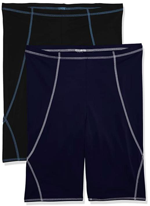 Lot de 2 bermudas de bain pour la natation - Différentes tailles et coloris, Ex : Taille L