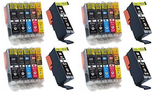 Pack de 24 cartouches d'encre pour imprimante Canon Pixma
