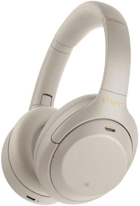 Casque audio Sony WH-1000XM4 - Bluetooth, Blanc, à réduction de bruit