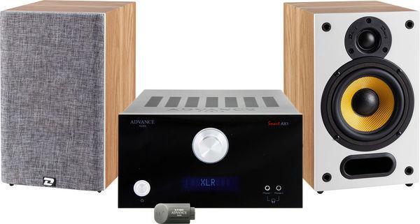 Chaine Hi-Fi Advance Paris AX1 + Davis Acoustics Mia 30 + Advance Acoustic X-FTB02 (Blanc ou Noir)