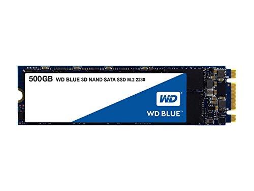 SSD Interne M.2 SATA Western Digital WD Blue (TLC 3D, DRAM) - 500Go