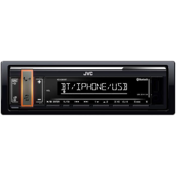 Autoradio JVC KD-X361BT - Bluetooth, USB, AUX, 24/192kHz