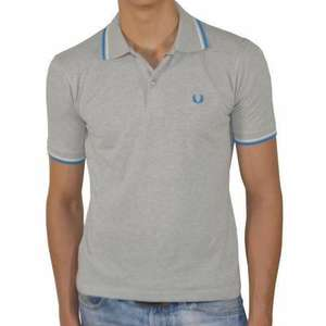 Polo Homme Fred Perry-Gris slim